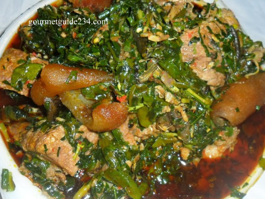 Here in Nigeria, cooking Edikaikong soup without PONMO is not complete!