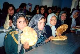 Free picture: young, Afghanistan, girls, eating